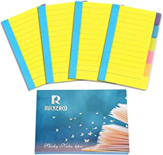 Office Supplies Sticky Notes Divider Sticky Notes Tabs ,Tabbed Self-Stick Lined Bright Colors Note Pad, School Supplies 4 ...