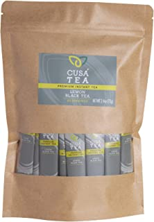 Cusa Tea: Lemon Black Premium Instant Tea - Real Fruit and Spices - No Sugar & Artificial Flavors - Make Hot & Cold Tea in...