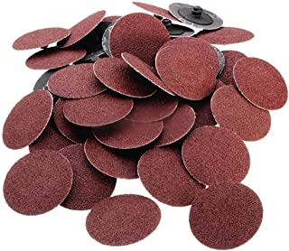Katzco 25 Pieces - 3 Inch 80 Grit Roll Lock Sanding and Grinding Discs - for Rotary Tools, Die Grinder, Drill, Carpenters, Woodworking