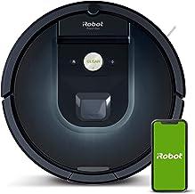 iRobot Roomba 981 robot odkurzający z 3-stopniowym systemem sprzątania, mapowanie pomieszczeń, tryb Carpet Boost, 2 szczot...