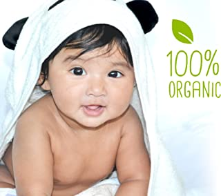 Baby hooded towel JJL Snuggle - 100% Organic made from Bamboo a complete new born babies & kids up to 8yrs Gift set - 90 c...