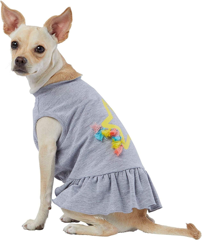 TOP NEW before selling ☆ PAW Star Fringe Grey New sales Dress~Medium~ Dog