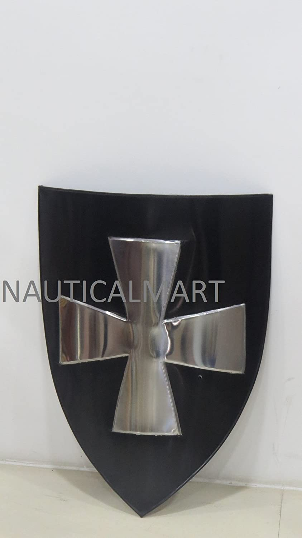 NAUTICALMART Hospitaller Medieval Shield- 16 Gauge Halloween Steel Battle Ready