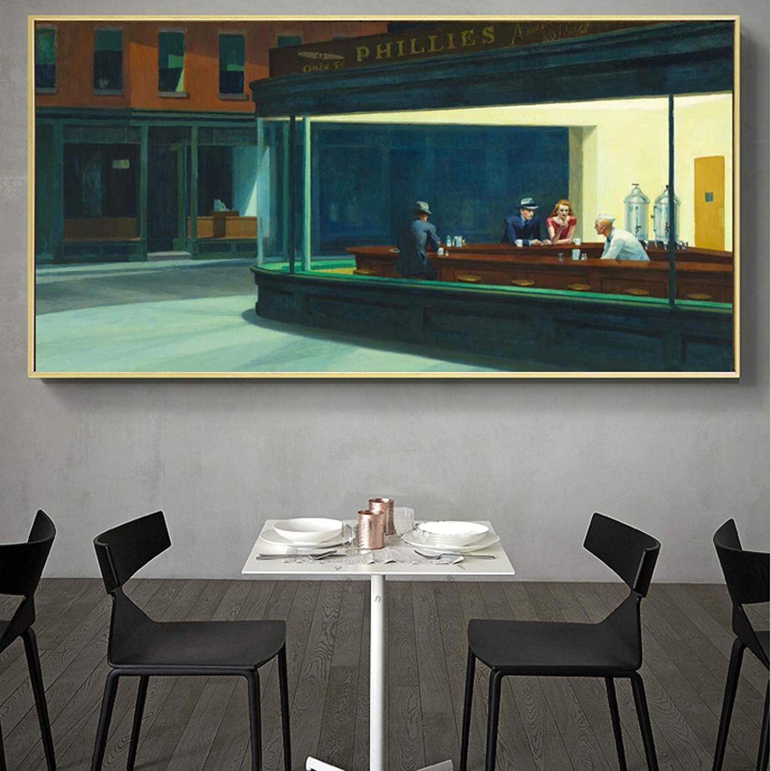 Famous Painting Nighthawks By Art Max Factory outlet 84% OFF Hopper Edward Canvas