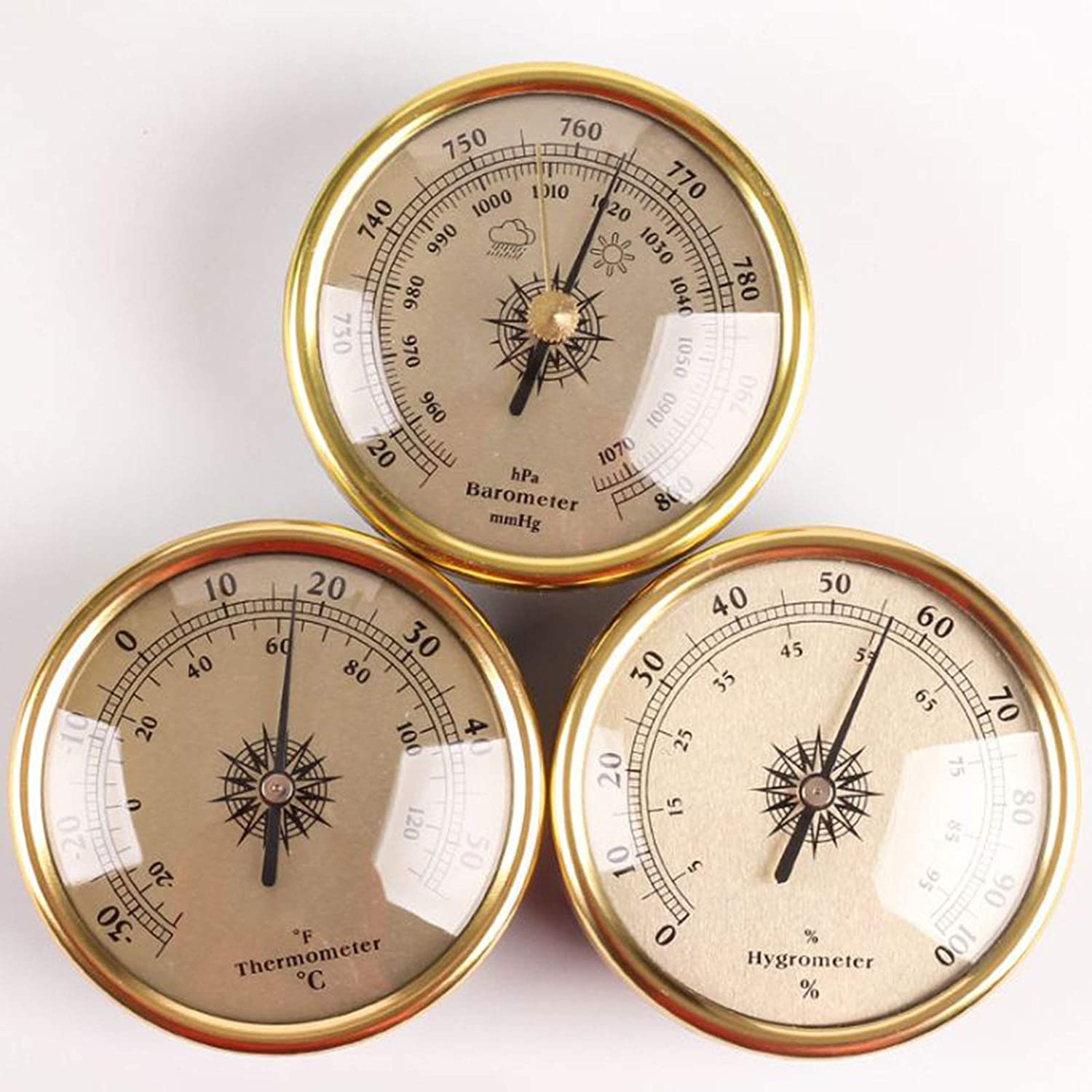 Weather Station 3 in Beauty products 1 72Mm Dia Barometer Hygrometer Large-scale sale Thermometer
