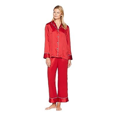 Natori Feathers Satin Essentials PJ (Crimson Red) Women