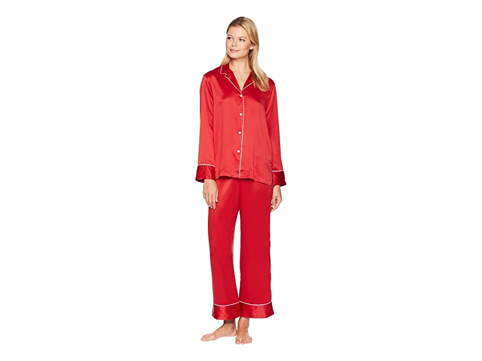 Natori Feathers Satin Essentials PJ (Crimson Red) Women