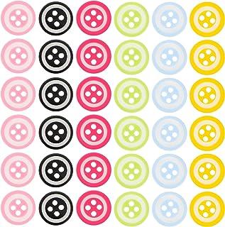 VALICLUD 150 peças faça-você-mesmo botão de artesanato 4 furos de resina botão de costura, suprimentos de costura para art...