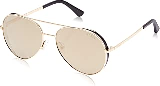Guess Aviator Shaped Sunglasses for Women - Brown Mirror, GU7607-32G