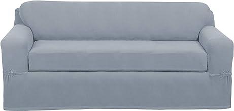 MAYTEX Pixel Ultra Soft Stretch Sofa Slipcover, Steel Blue