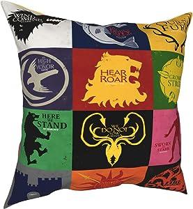 xiaoxiaoshen Game of Thrones Pillow Case Square Pillow Case Sofa Pillow Case Sofa Throw Pillow 1818 inches