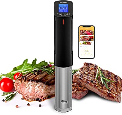Inkbird WIFI Sous Vide Precision Cooker Thermal Immersion Circulator 1000 Watts Precise Cooker with Recipes on APP / Sous Vide Cooking Machine ISV-100W (1 WIFI SOUS VIDE COOKER)