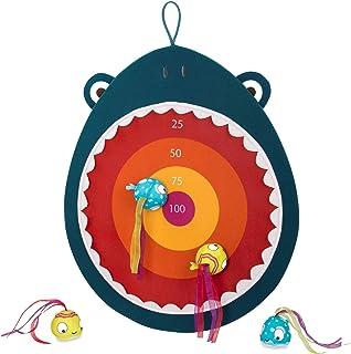 B. toys – Hungry Toss Shark Toys - Kids Dart Board – 1 Fabric Board & 4 Soft Darts for Kids 3+ (5-Pcs)