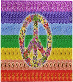 InterestPrint Peace Floral Symbol on Rainbow Islamic Flag Cotton Quilted Quilt Bed Spread Blanket Throw 70