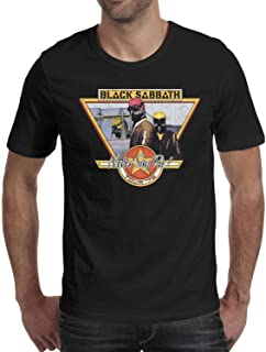 Man's Black-Sabbath-Never-Say-Die-Tour-'78- Cotton Blend Short Sleeve T-Shirts