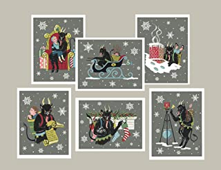 Krampus Christmas Card - Set of 6 note cards
