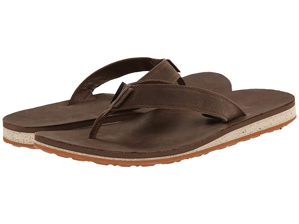 Teva Classic Flip Premium Leather (Dark Earth) Men