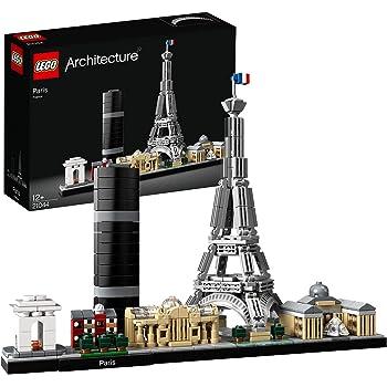 LEGO Architecture Parigi, Set di Costruzioni con Torre Eiffel, Louvre, Collezione Skyline,Idea Regalo Collezionabile, 21044
