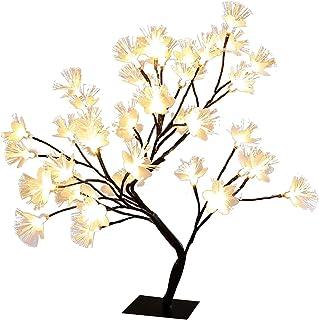 WERTAZ Bonsai Tree - Lámpara de mesa (alambre de cobre, 24/26/48 ledes, carga USB, 50 cm)
