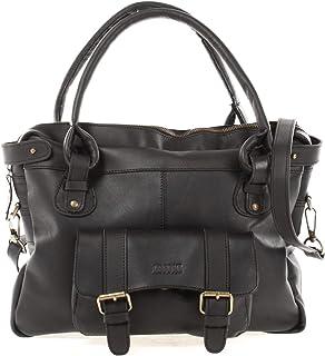 LECONI Henkeltasche Echtleder Damentasche Vintage Look Schultertasche natur Damen Ledertasche Frauen Handtasche Leder 38x29x11cm LE0050