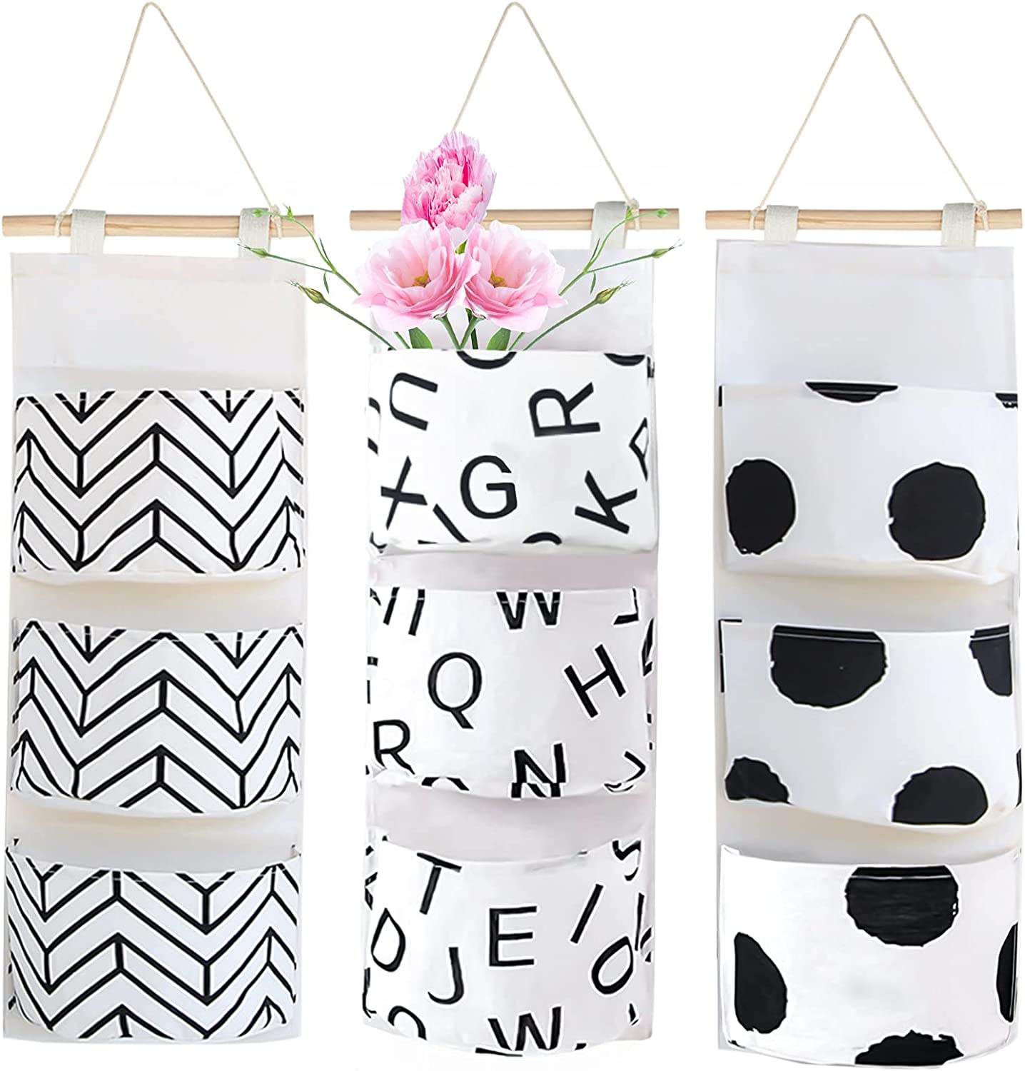 3Pcs Wall Closet Hanging Storage Discount mail order Waterproof Linen Over Bag The Direct sale of manufacturer