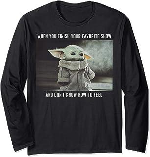 Star Wars Mandalorian The Child Favorite Show Meme Manche Longue