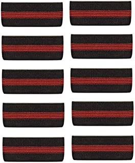 10-Pack Thin Red Line Mourning Band Black Fire Department Funeral Honor Guard Mourning Band Strap 3/4