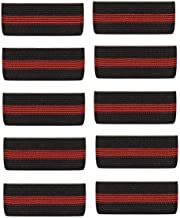 """Choice4ever 10-PACK Thin Red Line Mourning Band Black Fire Department Funeral Honor Guard Mourning Band Strap 3/4"""""""