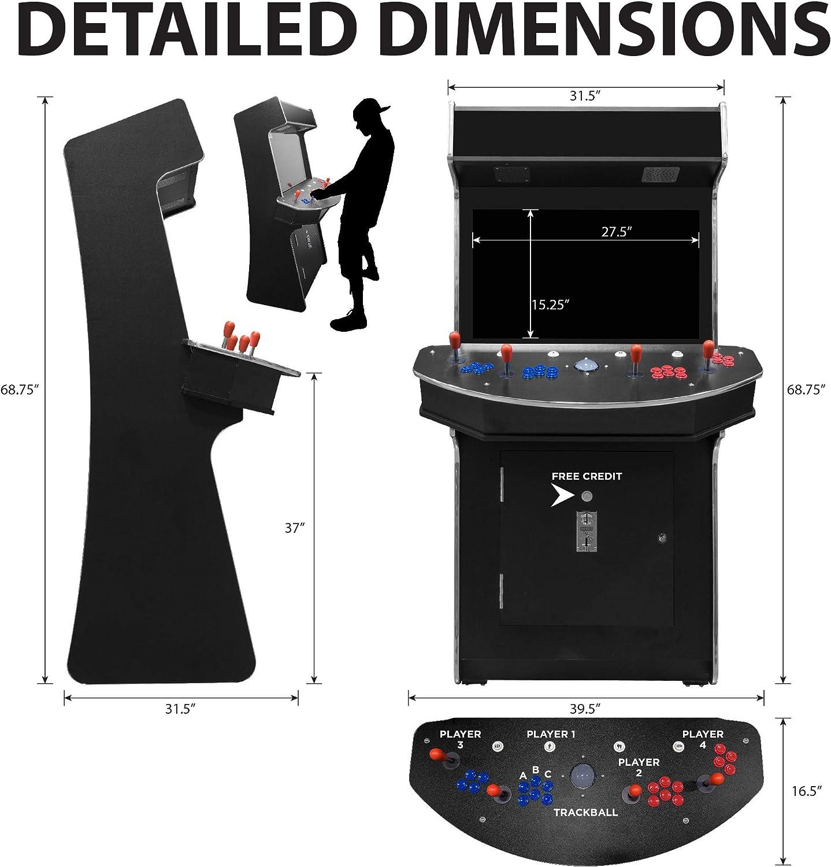 26 Screen 2 Sanwa Joysticks Stools Included Trackball Creative Arcades Full-Size Commercial Grade Cabinet Arcade Machine 3-Year Warranty 3500 Classic Games