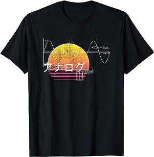 Retro 80s Japanese Vaporwave Analog Synthesizer Camiseta