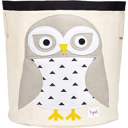 visesunny Storage Basket Colored Cartoonn Owl Dot Nursery Hamper Basket Clothes Toy Storage Organizer Bin Box Collapsible Laundry Bag for Kid Room,Playroom,Bathroom,Living Room,Dorm,Office