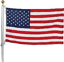Ezpole Flagpole, Defender Flagpole Kit, Fly Multiple Flags, 21-Feet (D-21)