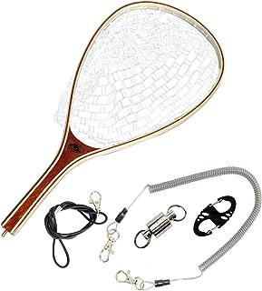 SF Fly Fishing Landing Net Soft Rubber Mesh Trout Net Catch and Release Net