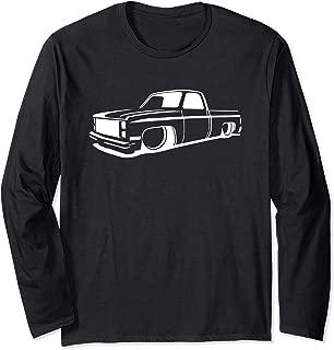 73-87 Mini C10 Truck, Slammed, Lowrider, Dropped Long Sleeve T-Shirt