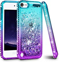 iPod Touch 5 6 7 Case, iPod Touch Case 5th 6th 7th Generation for Girls, Ruky Quicksand Series Glitter Flowing Liquid Floa...
