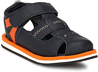 Tuskey Boy's Synthetic Leather Antislip Summer Sports Fashion Floaters Sandals for Kids