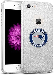 Silver iPhone 8 Case iPhone 7 Cover Soft Slim Fit Silicone TPU Electroplate Transparent Shell for iPhone 7/8 4.7-inch
