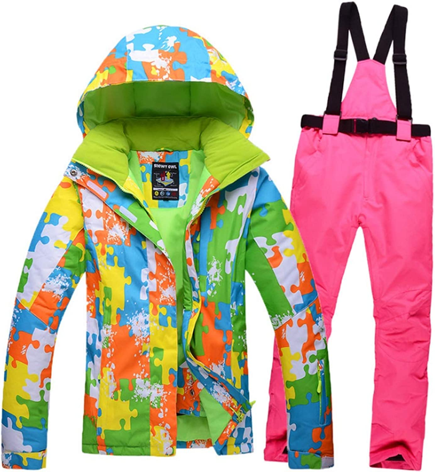 CEFULTY Women Jacket Winter Girl Coat Outdoor Sport Dress Ski Jacket for Rain Snow Outdoor Hiking
