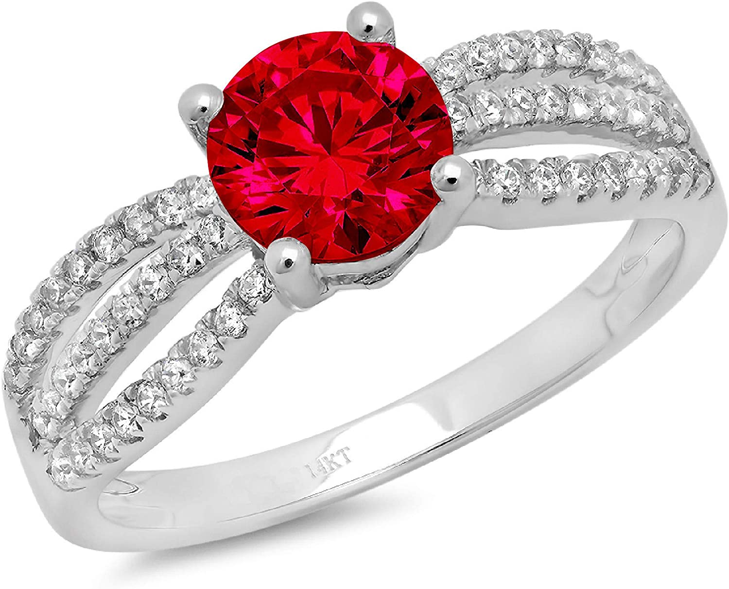 1.25ct OFFicial store online shop Brilliant Round Cut Solitaire Accent Flawless Genuine Sim