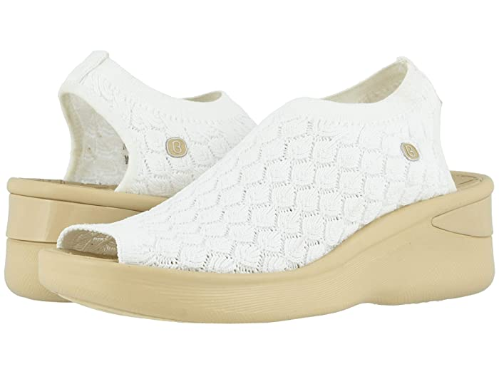 Bzees  Secret (White Crochet Knit) Womens Sandals