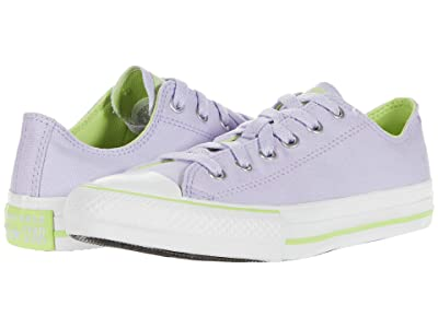 Converse Kids Chuck Taylor(r) All Star(r) Seasonal Ox (Little Kid/Big Kid) (Moonstone Violet/Lemongrass/White) Girl