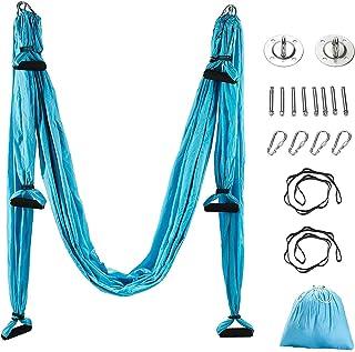 Aerial Yoga Hängematte Pilates Trapez Silk Elastische Yogatuch Haengematte Seiden Yoga Schaukel Set Hängetuch Equipment in...