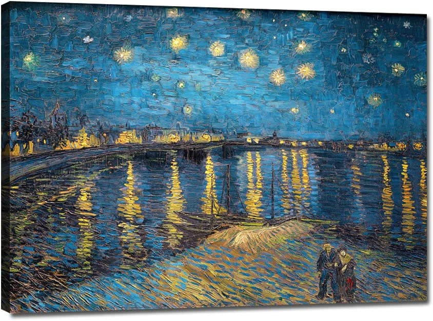 Wall Super Award-winning store sale period limited Art Blue Starry Night by Abstract Van Work Vincent Gogh Oil