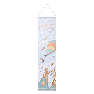 Dr. Seuss Oh, The Places You'll Go! Canvas Growth Chart