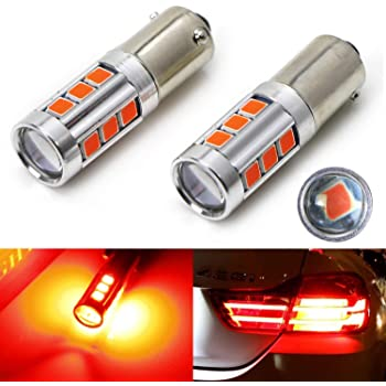 iJDMTOY Brilliant Red 54-SMD 7506 7527 P21W Canbus LED Replacement Bulbs For BMW F22 F30 F32 2 3 4 Series Rear Turn Signal Lights or Brake//Tail Lights