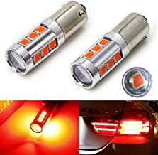 iJDMTOY (2) 360 Degrees Brilliant Red 13-SMD H21W LED Replacement Bulbs Compatible With 2014-2017 F32/F33/F82 4 Series Bra...