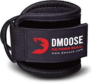 تسمه های مچ پا DMoose Fitness برای دستگاه های کابل - زنگ دو زنگ از جنس استنلس استیل ، راحتی قابل تنظیم نئوپرن ، گلوت و تمرینات ساق - برای زنان و مردان