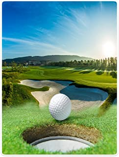 Blankets Sofa Bed Throw Lightweight Cozy Plush Golf Course Beautiful Sky Hole Bunker 40
