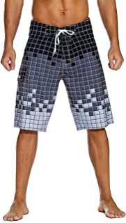 Nonwe Men's Sportwear Quick Dry Board Shorts with Lining