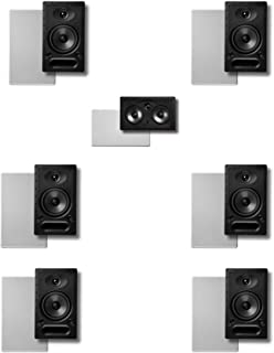 Polk In-wall Surround System: Pair of 65-rt, One 255c-rt, 2pairs 65-rt Rear (Bundle of 7 Speakers)